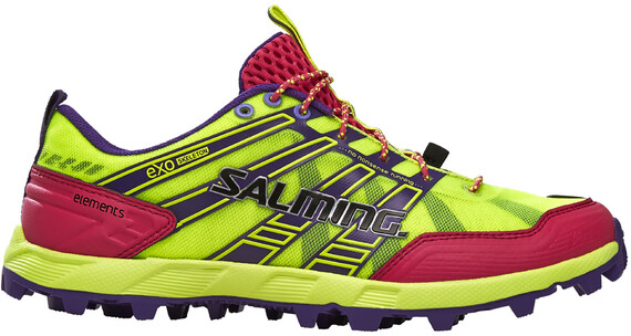 Salming W's Elements Shoes Safety Yellow/Pink Glo